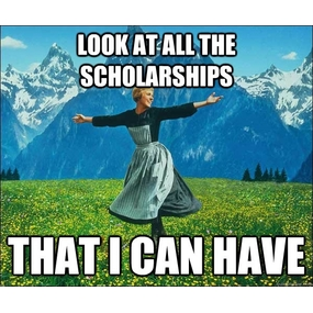 Look at all the scholarships that I can have.